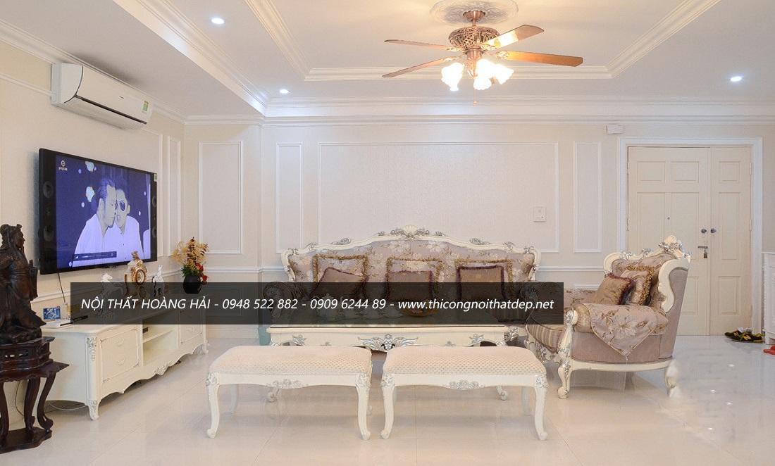 Sofa phòng khách phong cách nội thất tân cổ điển