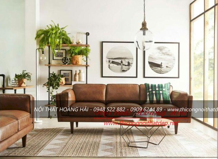 Phòng khách chung cư sang trọng, ấm cúng