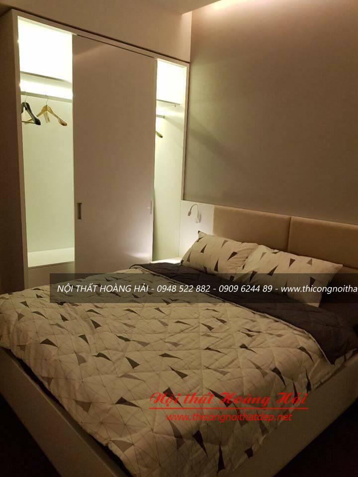 Thi công nội thất chung cư tại nhà anh Tân