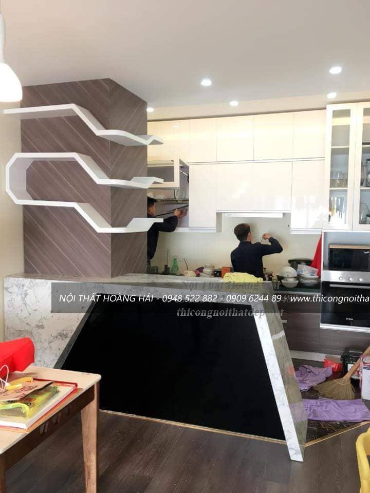 Thi công tủ bếp acrylic