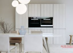Mẫu tủ bếp gỗ biệt thự hiện đại