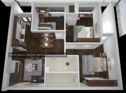 Công trình thiết kế và thi công nội thất gỗ óc chó nhà chị Nguyệt tại Nghệ An