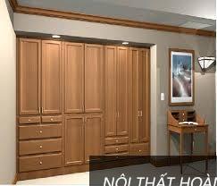 Mẫu tủ quần áo gỗ âm tường