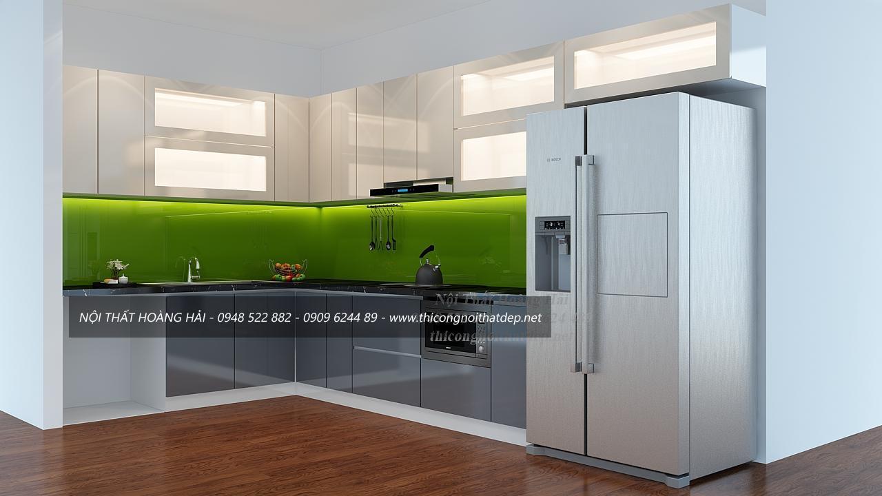 Tủ bếp gỗ AcrylictạiHà Nội