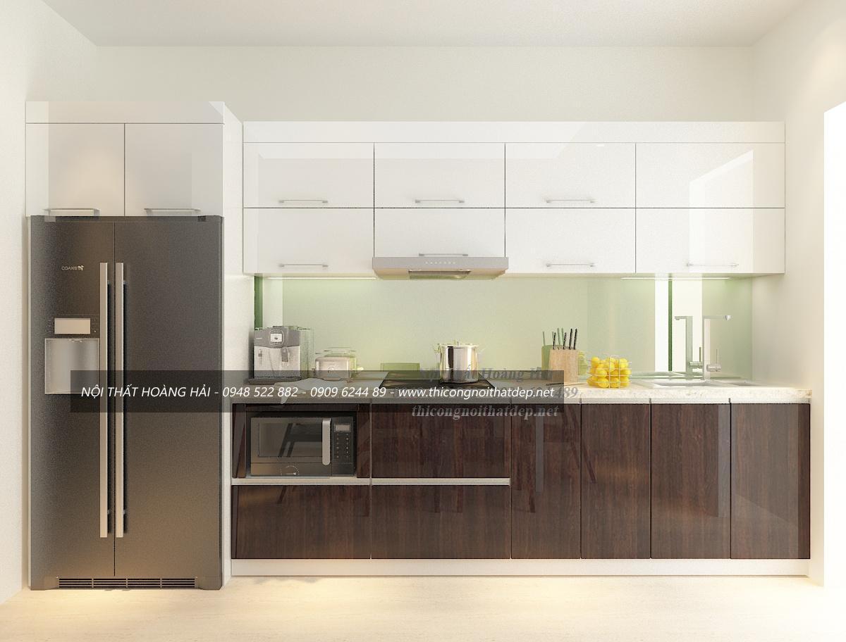 Tủ bếp gỗ Acrylic tại Hà Nam