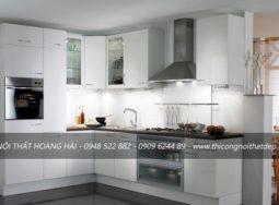 Mẫu thi công tủ bếp Acrylic tại Nam Từ Liêm