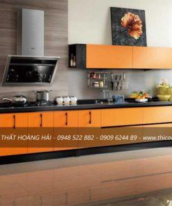 Tủ bếp gỗ Laminate dang chu I