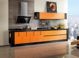 Mẫu thiết kế tủ bếp Laminate dáng chữ I sang trọng