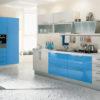 Tủ bếp gỗ Veneer hình chữ I