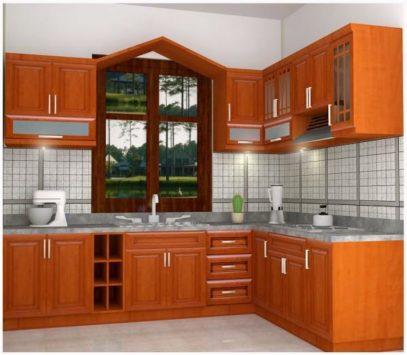 Tủ bếp gỗ giáng hương sang trọng nhập khẩu sang trọng