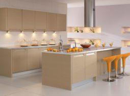 Mẫu thiết kế tủ bếp Laminate có bàn đảo cực đẹp