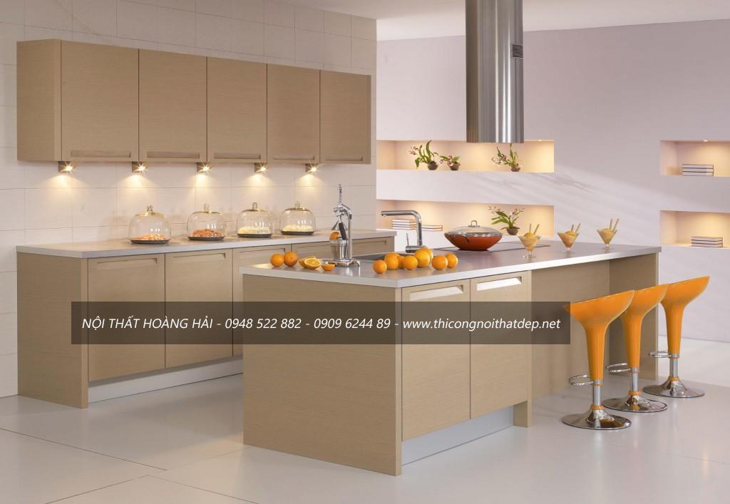 Tủ bếp kệ bếp đẹp giá rẻ quý phái