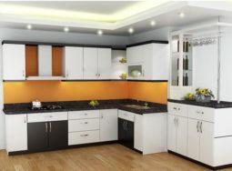 Mẫu thiết kế tủ bếp gỗ Veneer cho biệt thự tại Sầm Sơn, Thanh Hóa
