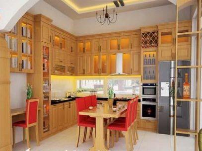 Tủ bếp gỗ công nghiệp MFC cao cấp