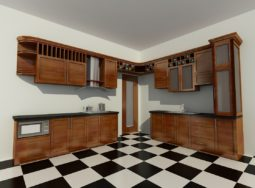Báo giá thiết kế thi công tủ bếp gỗ Dổi trọn gói