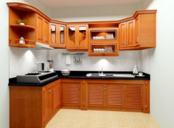 Báo giá tủ bếp gỗ gõ tại nội thất Hoàng Hải