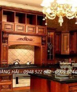 Thiết kế tủ bếp gỗ giáng hương đẹp