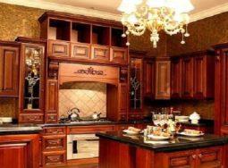 Mẫu thiết kế tủ bếp gỗ giáng hương cao cấp cực đẹp