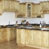 Tủ bếp gỗ sồi nga dáng chữ G màu sáng cực đẹp