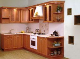 Mẫu thiết kế tủ bếp gỗ xoan đào cao cấp