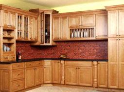 Mẫu tủ bếp gỗ sồi Mỹ dáng chữ L cực đẹp