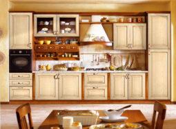Mẫu tủ bếp gỗ sồi Nga màu trắng cực đẹp