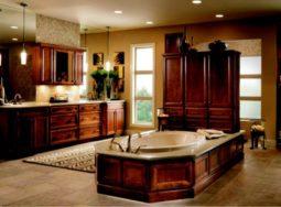 Những mẫu thiết kế tủ bếp gỗ sồi Mỹ phong cách cổ điển