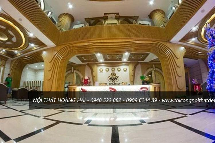 Mẫu thiết kế đại sảnh khách sạn sang trọng