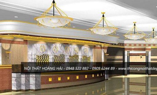 Mẫu thiết kế đại sảnh khách sạn hiện đại