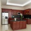 Thiết kế tủ bếp gỗ dáng hương tại Thái BÌnh