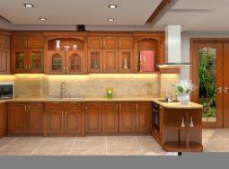 Thiết kế tủ bếp gỗ dổi tại Hà Nội