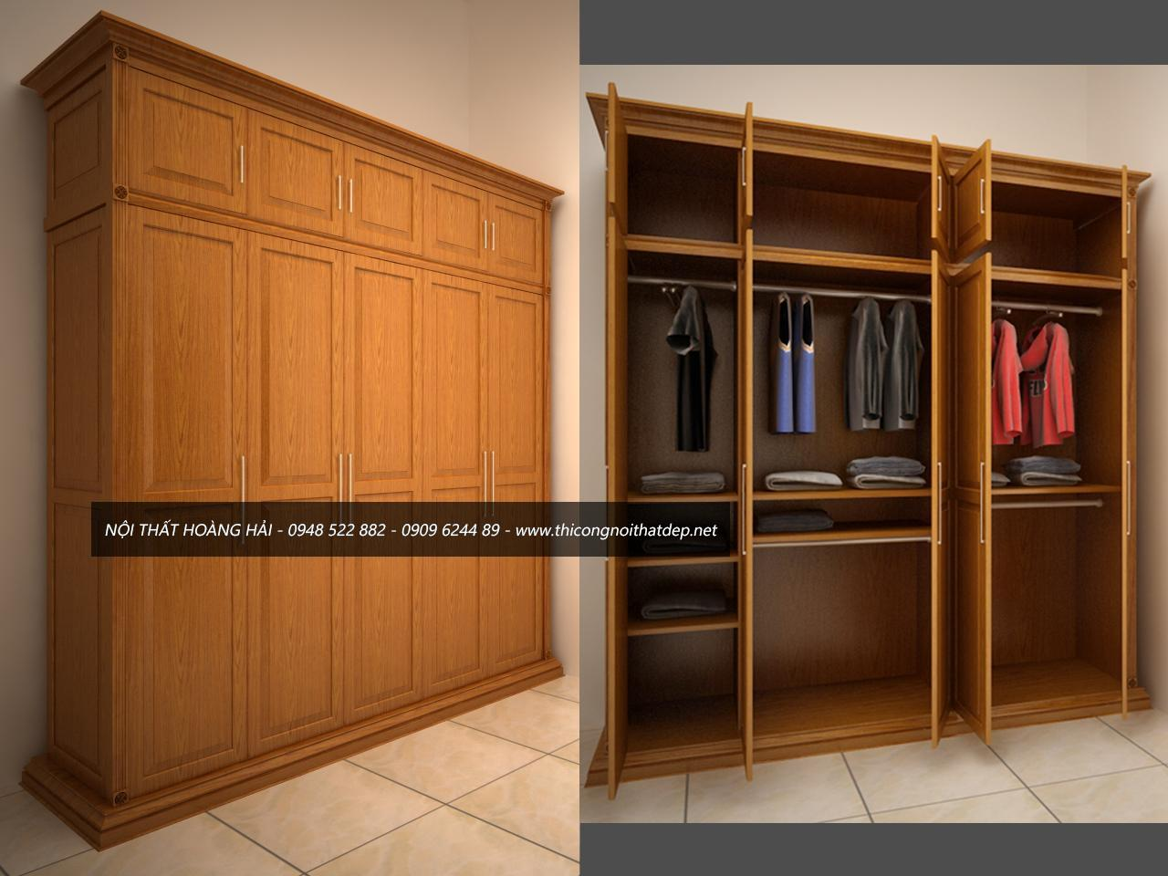 tủ quần áo gỗ giá rẻ tại Hà Nội