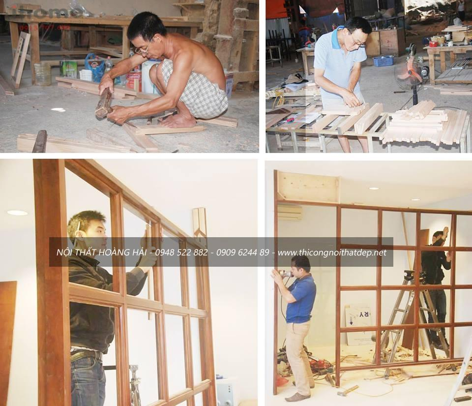 Xưởng sản xuất nội thất gỗ tự nhiên cho các đối tác tại Hà Nội