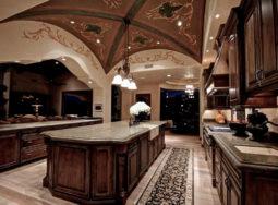 29 mẫu thiết kế tủ bếp gỗ gõ đỏ phong cách châu Âu cực đẹp