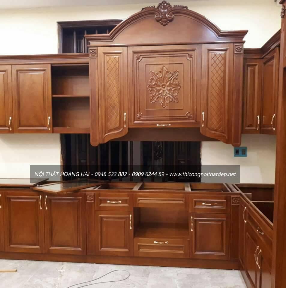 Dự án tủ bếp gỗ gõ đỏ