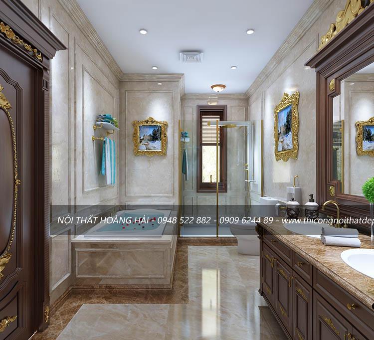 Mẫu thiết kế nội thất phòng tắm biệt thự