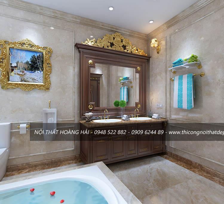 Nội thất phòng tắm biệt thự cổ điển