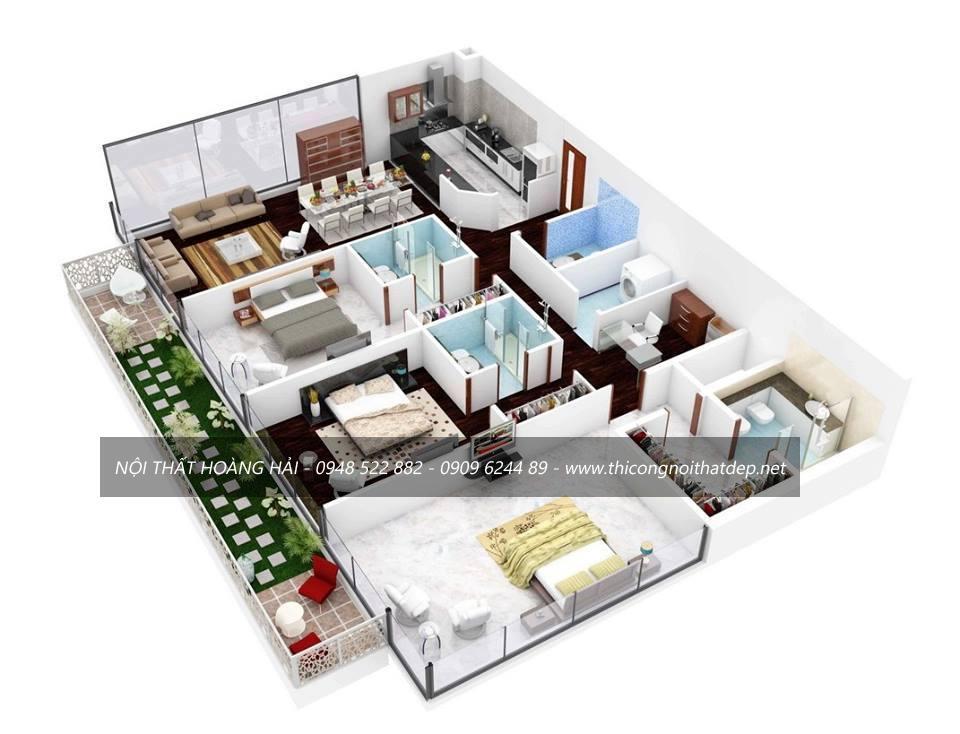 Thiết kế và thi công nội thất nhà chị Ngọc ở quận 3