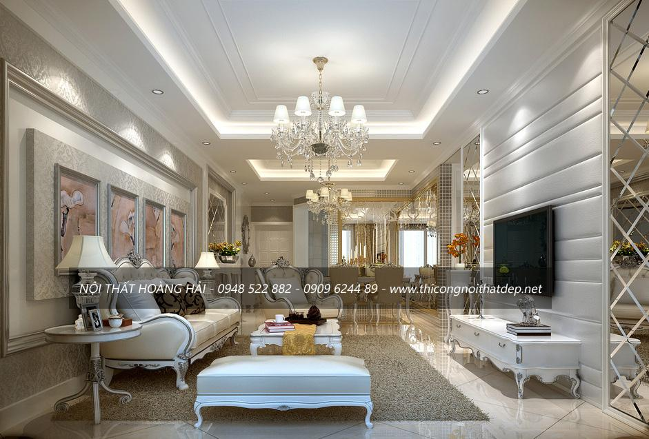 phong cách thiết kế nội thất tân cổ điển và hiện đại