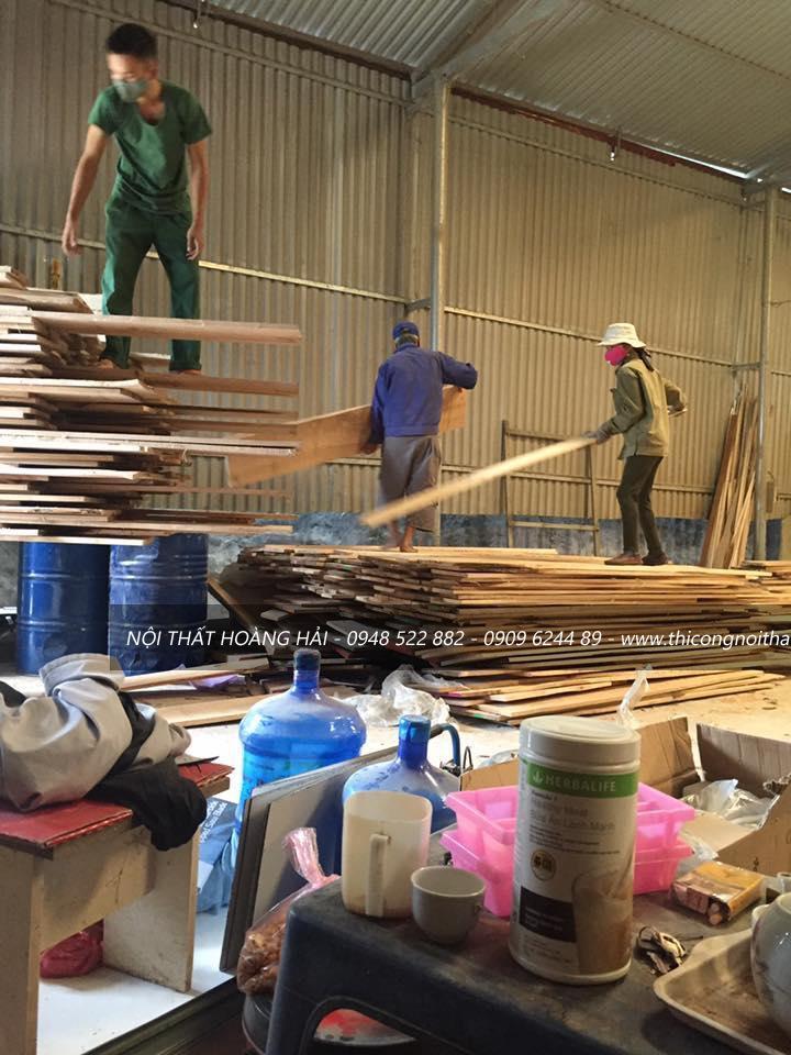 sản xuấtthi công nội thất gỗ gõ đỏ