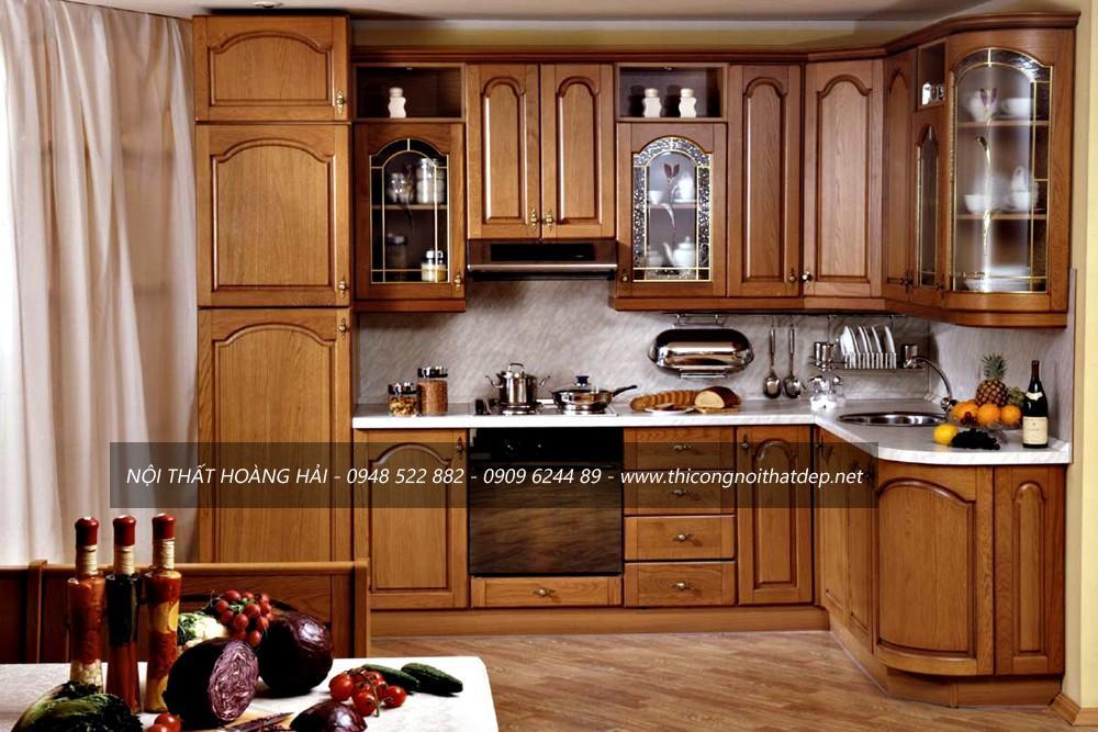 tủ bếp gỗ giáng hương