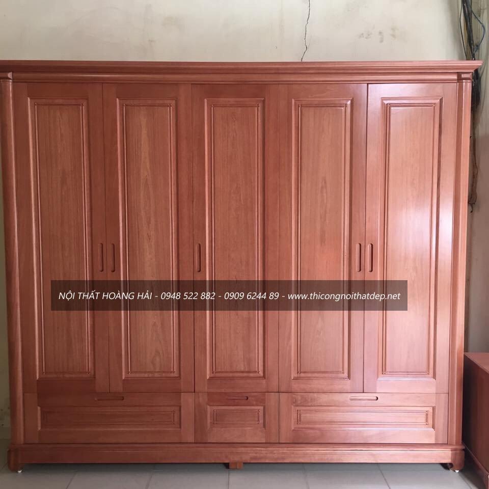 tủ quần áo gỗ giáng hương ở Hà Nội