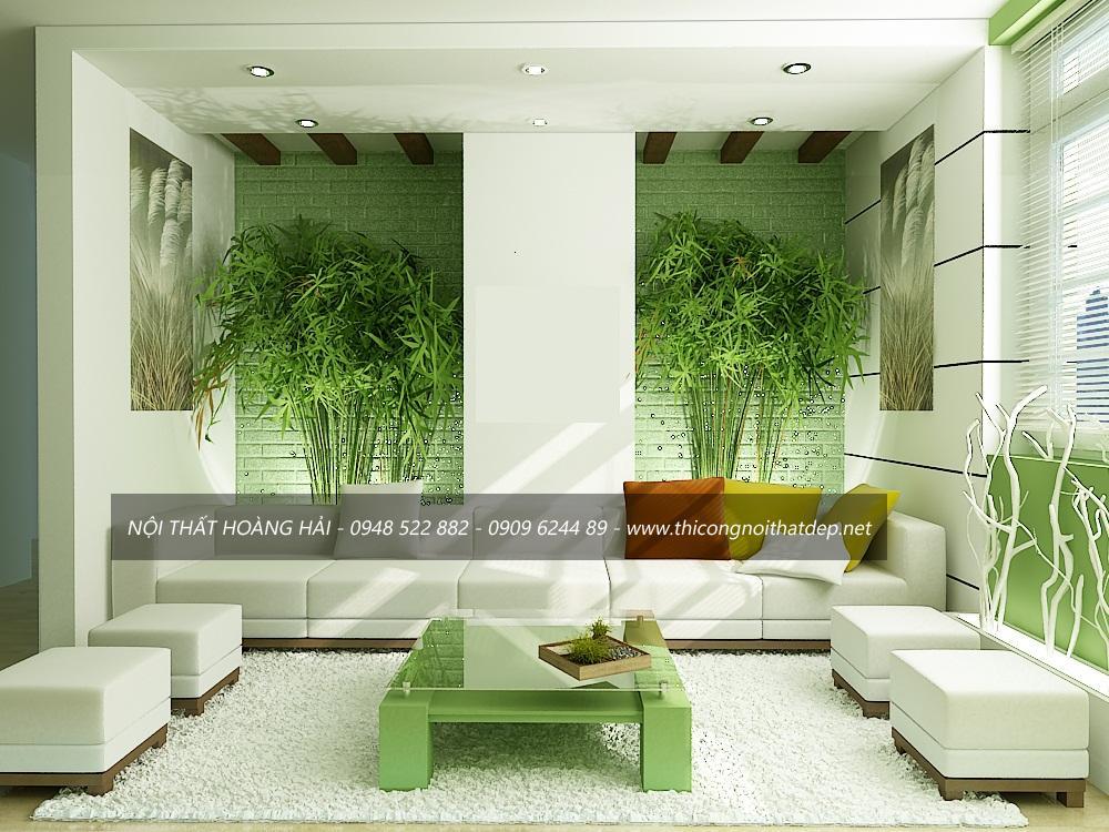 """Thiết kế nội thất chung cư theo phong cách """"xanh"""""""