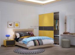 Thi công nội thất phòng ngủ biệt thự nhà anh Trung ở Phú Mỹ Hưng