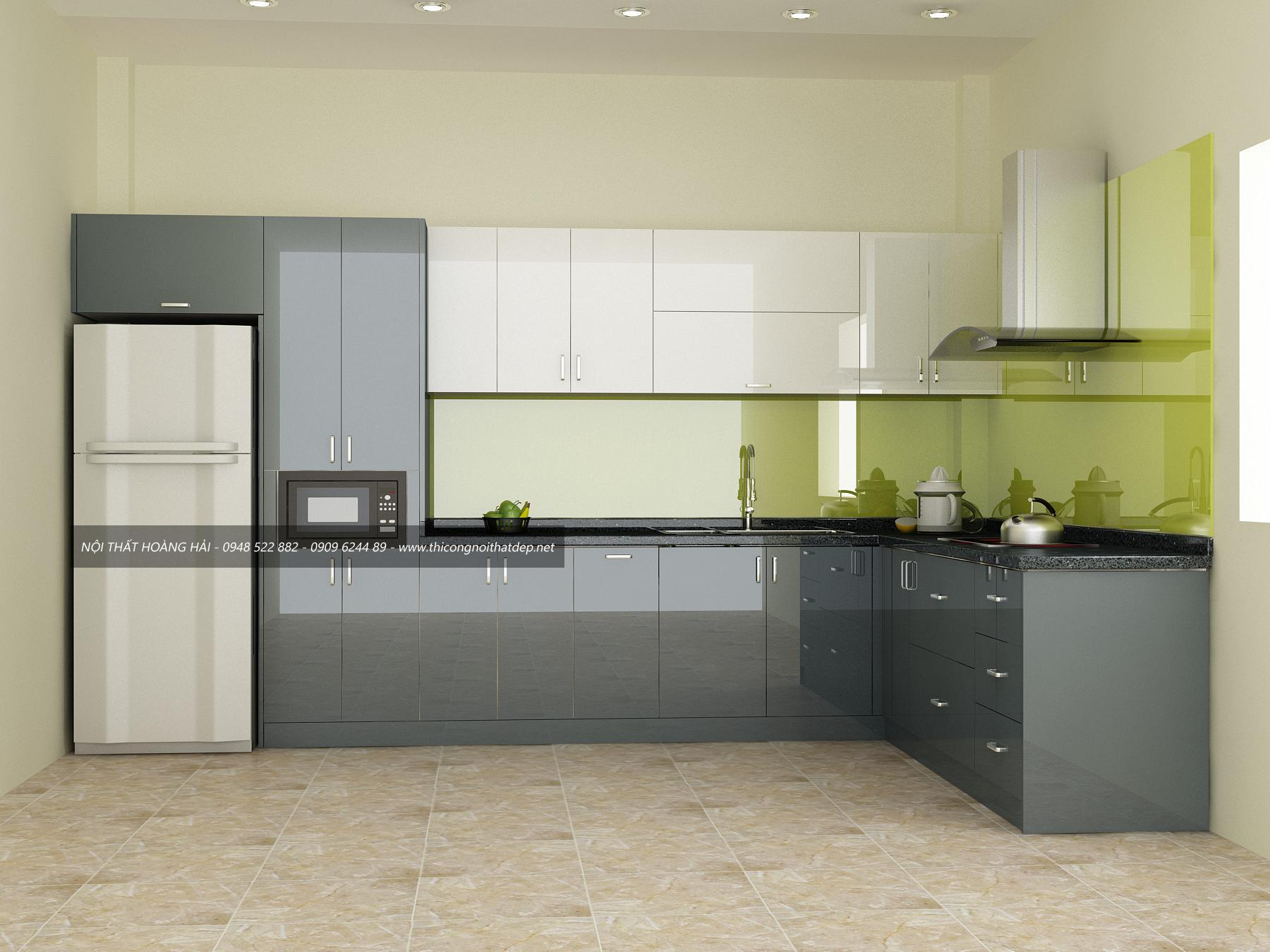 Bí quyết giúp bạn nhận diện tủ bếp Acrylic chất lượng