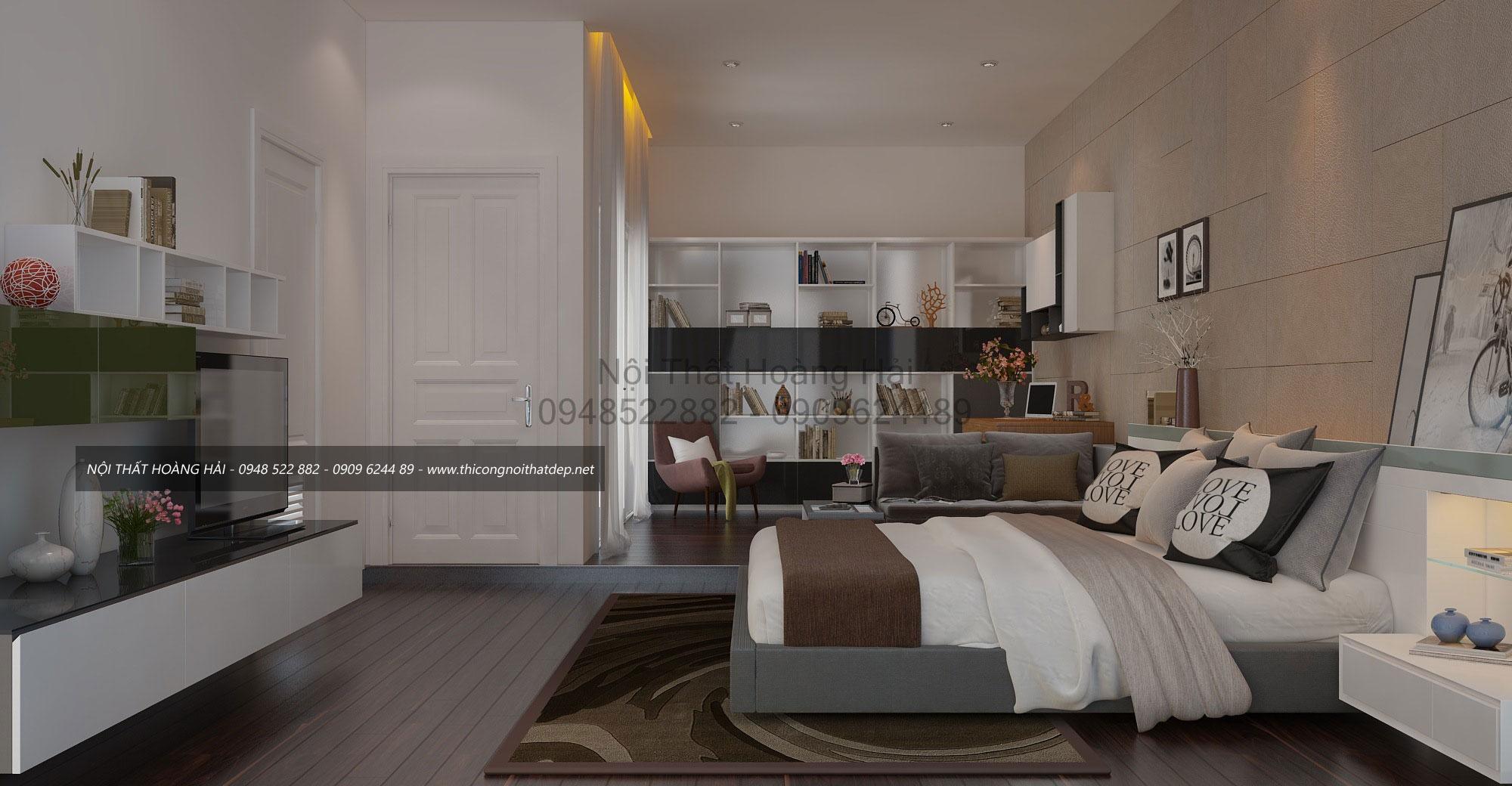 nội thất phòng ngủ tại biệt thự Him Lam