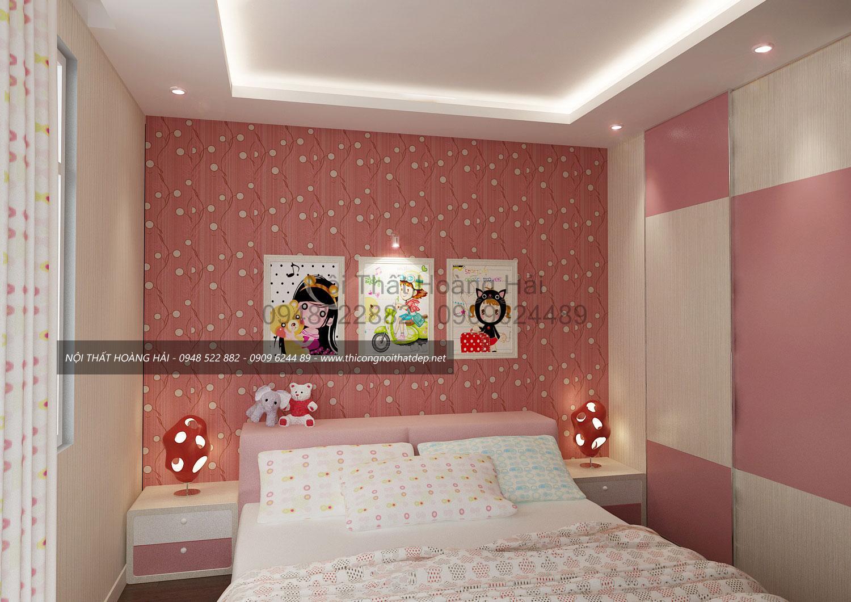 thi công nội thất phòng ngủ cho nữ biệt thự nhà anh tuấn tại nhà bè