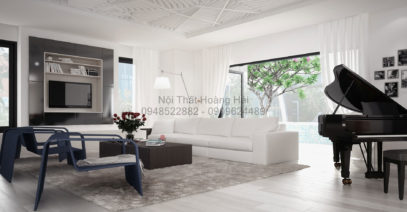 Thi công nội thất phòng khách biệt thự anh Thao ở Đồng Nai