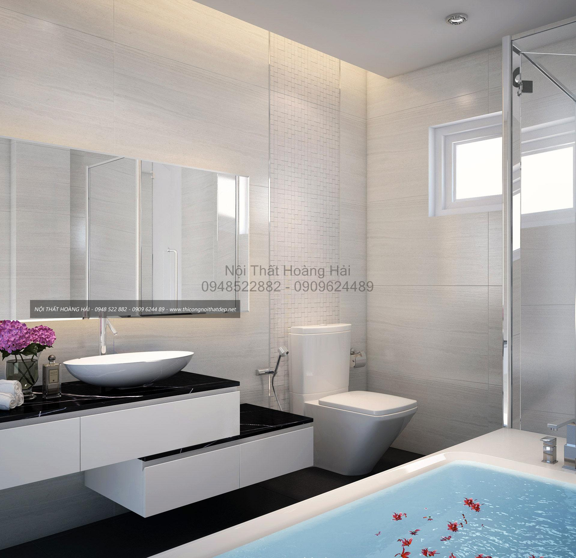 Thi công nội thất phòng tắm biệt thự nhà Lan Anh