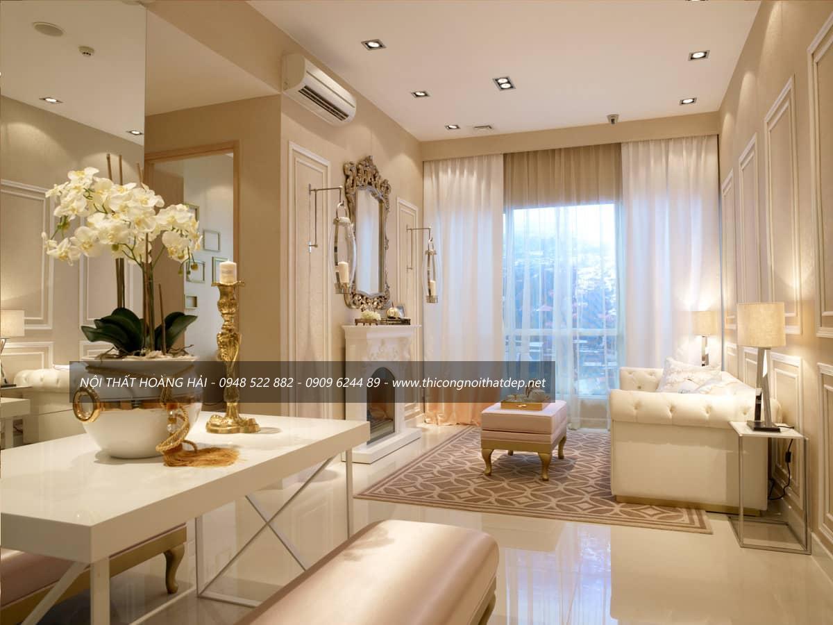 Thiết kế nội thất biệt thự kiểu Pháp